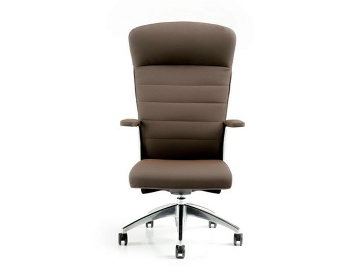 Executive chair with 5-spoke base with armrests HALFPIPE | Executive chair with headrest by D.M.