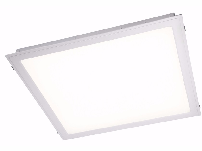 LED direct light aluminium ceiling lamp HALL 40 W by Quicklighting