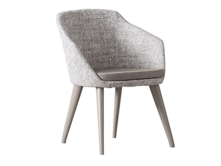 Fabric easy chair with armrests HALLY by Chaarme
