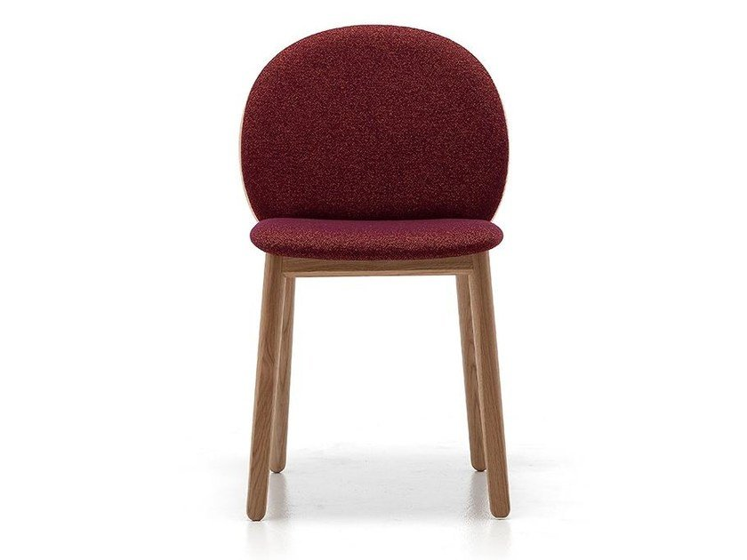Contemporary style upholstered wooden restaurant chair HALO 01 - Very Wood