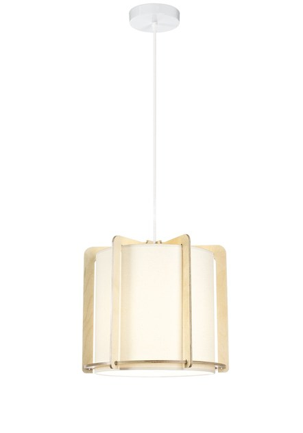 Contemporary style birch pendant lamp HALO - PW by ENVY