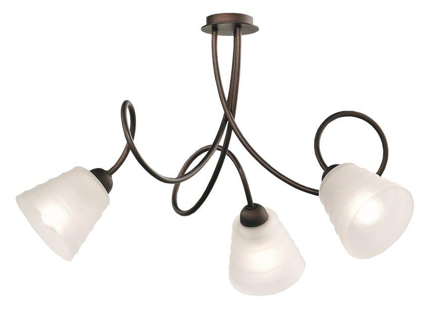 Direct light powder coated steel ceiling lamp HAMBURGER - Gibas