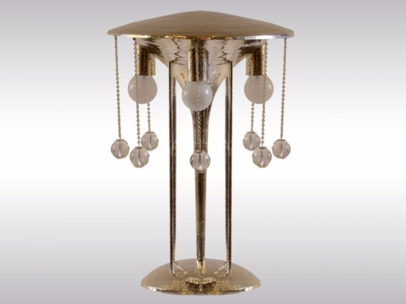 Brass table lamp HAMMERED TABLE LAMP - Woka Lamps Vienna