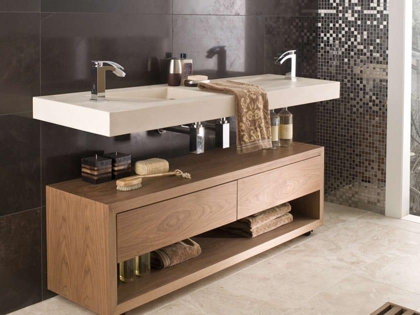 Floorstanding double wooden bathroom cabinet HAMPTON by L'antic Colonial