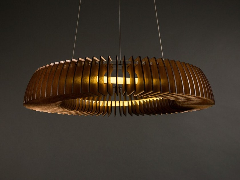 LED wooden pendant lamp HANKO by Cameron Design House