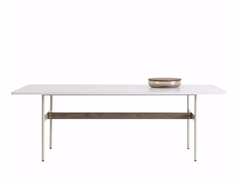 Rectangular wood-product dining table HANNA by ASPLUND