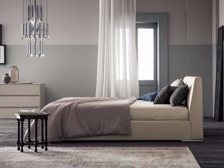 Upholstered fabric double bed HAPPY - Dall'Agnese