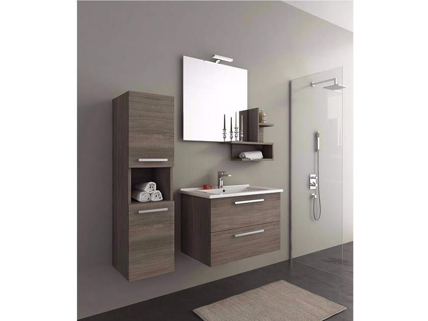 Wall-mounted vanity unit with drawers HARLEM H8 - LEGNOBAGNO