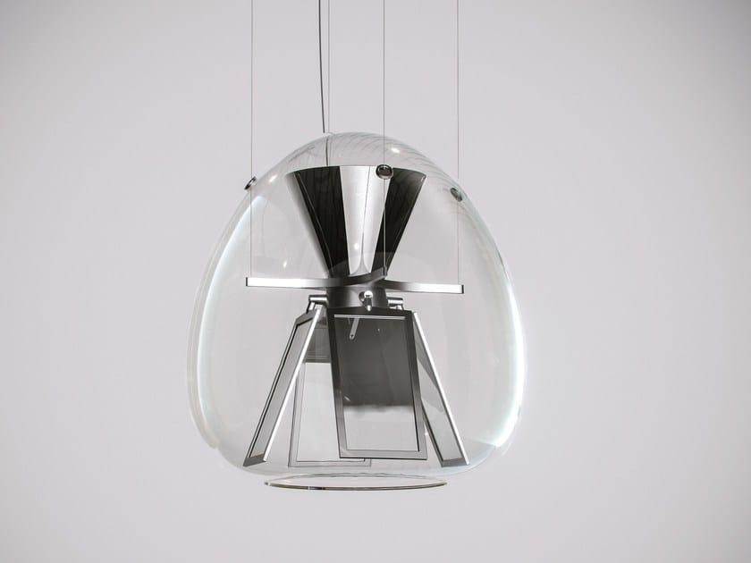 Direct light blown glass pendant lamp HARRY H. by Artemide