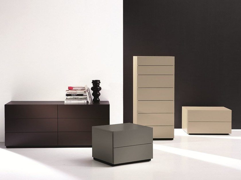 Lacquered wooden chest of drawers HARU | Chest of drawers by EmmeBi