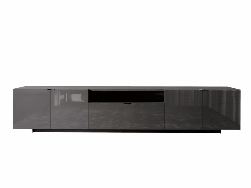 Lacquered highboard with doors with drawers HARVEY LINE | Highboard - Minotti