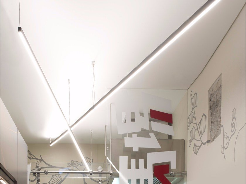 Direct-indirect light aluminium pendant lamp HASHI - GLIP by S.I.L.E