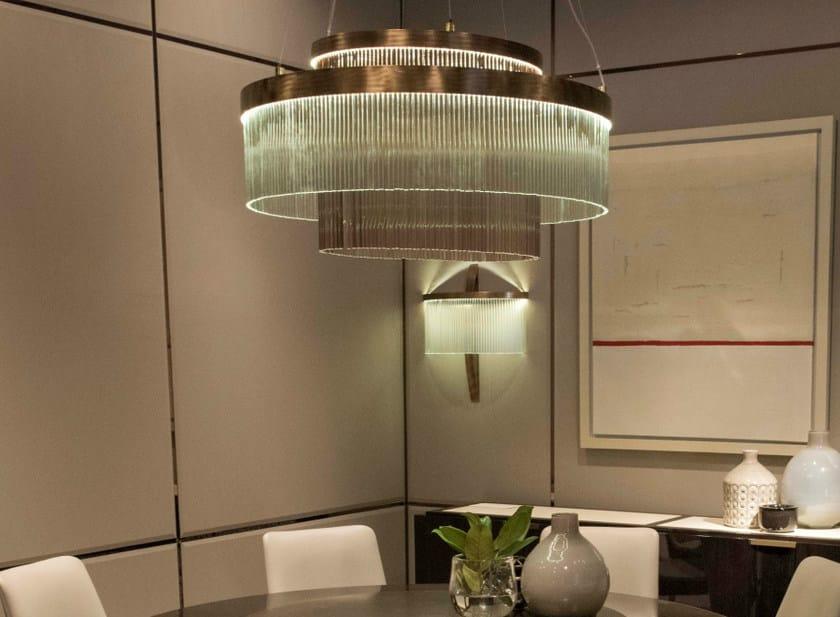 Glass chandelier PARIS | Chandelier - HUGUES CHEVALIER
