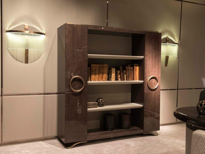 Lacquered oak bookcase HAUSSMANN | Bookcase - HUGUES CHEVALIER