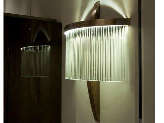 LED indirect light glass wall light HAUSSMANN | Wall light - HUGUES CHEVALIER