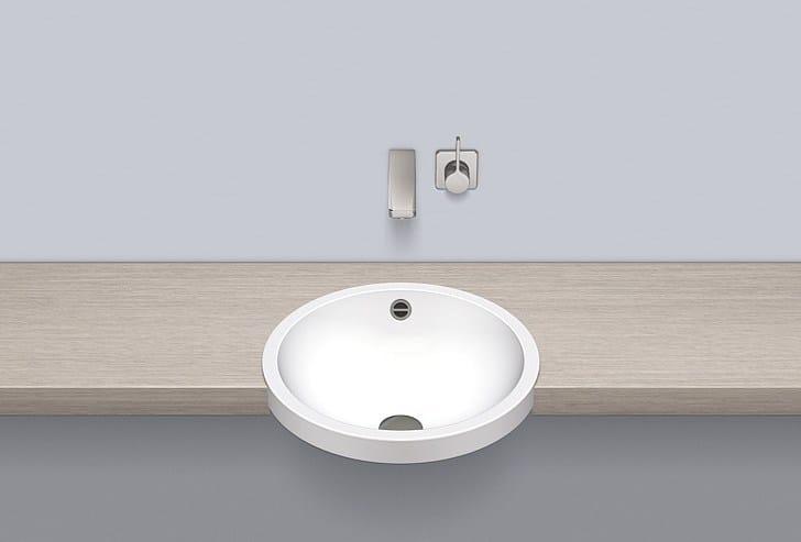 Semi-recessed basin from glazed steel HB.K450 - ALAPE
