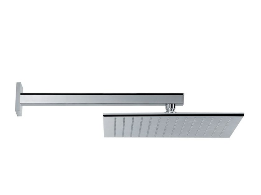 Wall-mounted adjustable stainless steel rain shower HEAD SHOWERS | Stainless steel overhead shower by newform