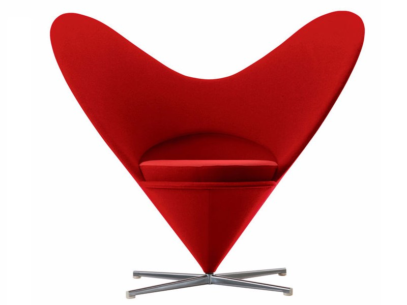 Fabric wingchair HEART CONE CHAIR - Vitra