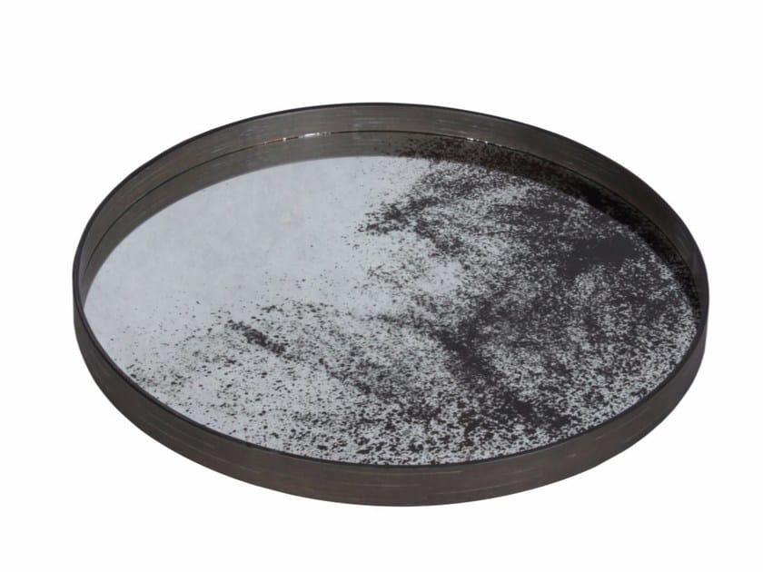 Round tray HEAVY AGED MIRROR | Round tray - Notre Monde