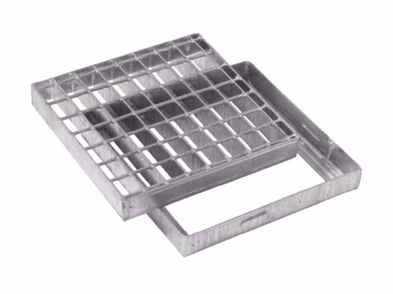 Manhole cover and grille for plumbing and drainage system HEAVY SQUARE GRATING WITH FRAME by Dakota