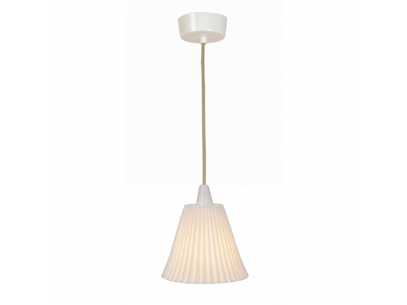 Porcelain pendant lamp with dimmer HECTOR LARGE PLEAT | Pendant lamp by Original BTC