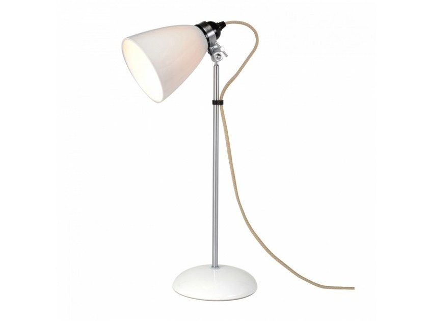 Adjustable porcelain table lamp with fixed arm HECTOR MEDIUM DOME | Table lamp - Original BTC