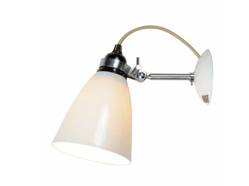 Adjustable porcelain wall lamp with dimmer HECTOR MEDIUM DOME | Wall lamp - Original BTC