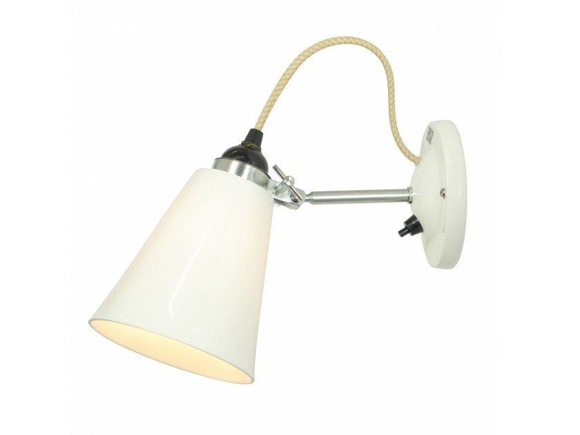 Adjustable porcelain wall lamp HECTOR MEDIUM FLOWERPOT SWITCHED | Wall lamp - Original BTC