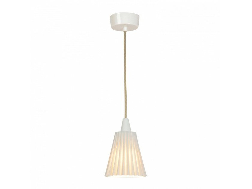 Porcelain pendant lamp with dimmer HECTOR MEDIUM PLEAT   Pendant lamp by Original BTC
