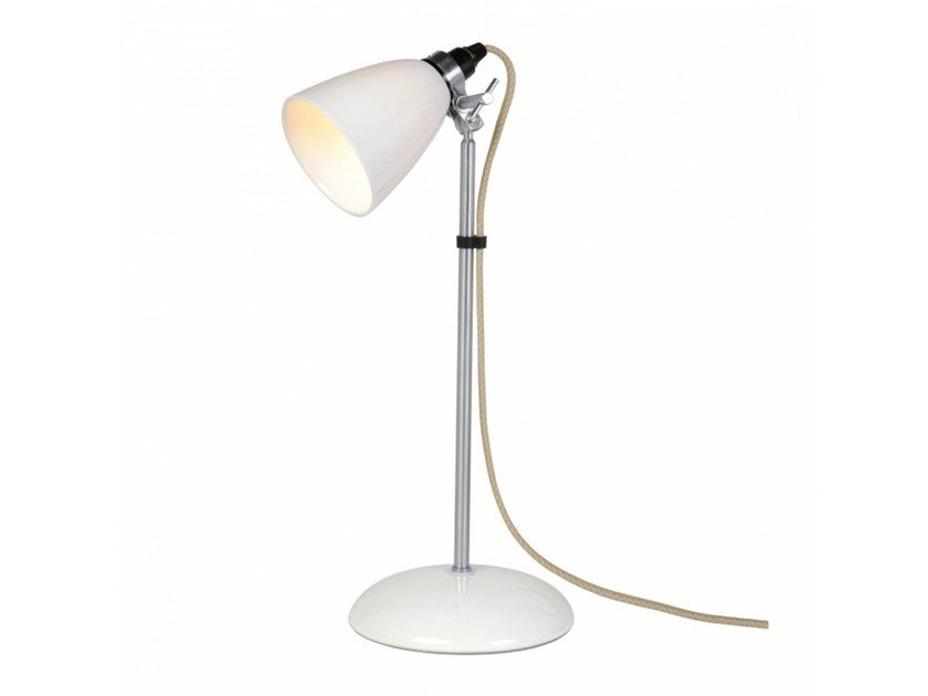 Adjustable porcelain table lamp with fixed arm HECTOR SMALL DOME | Table lamp - Original BTC
