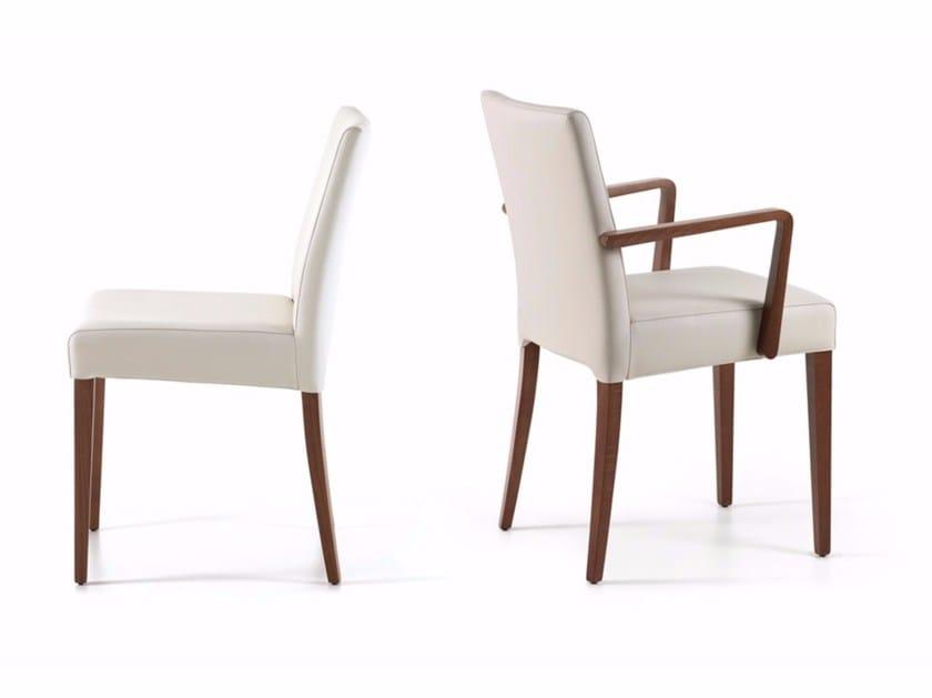 Upholstered leather chair HELENA - Cattelan Italia