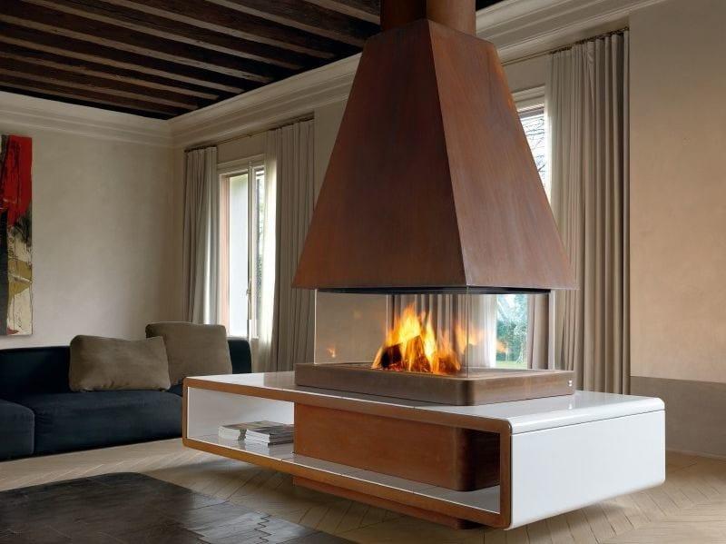 Corten™ Fireplace Mantel HELSINKI by Piazzetta