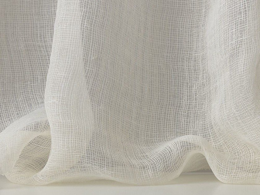 Solid-color synthetic fibre fabric for curtains HERA - Dedar
