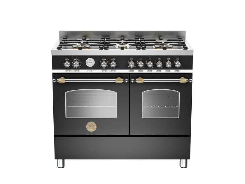 Cucina a libera installazione professionale HERITAGE - HER100 6 MFE D by Bertazzoni