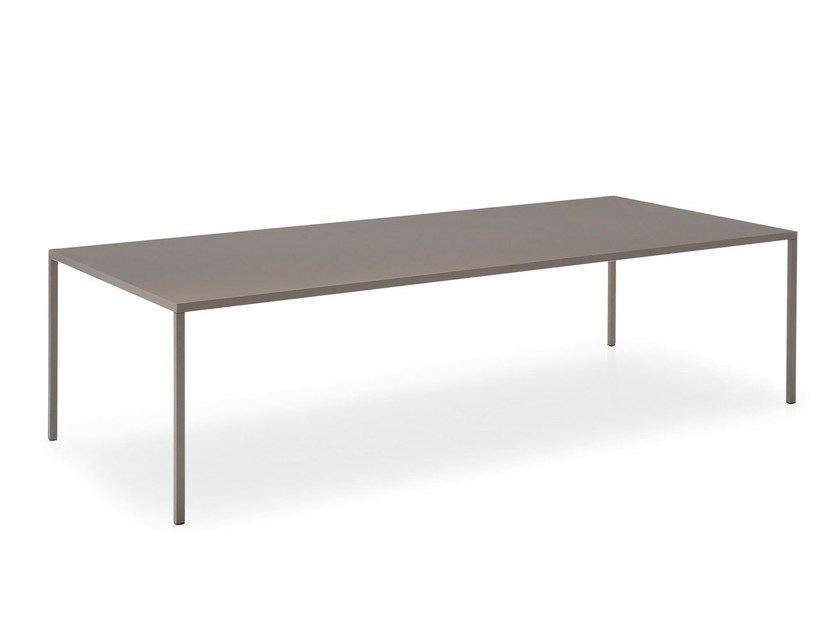 Rectangular metal table HERON | Rectangular table - Calligaris