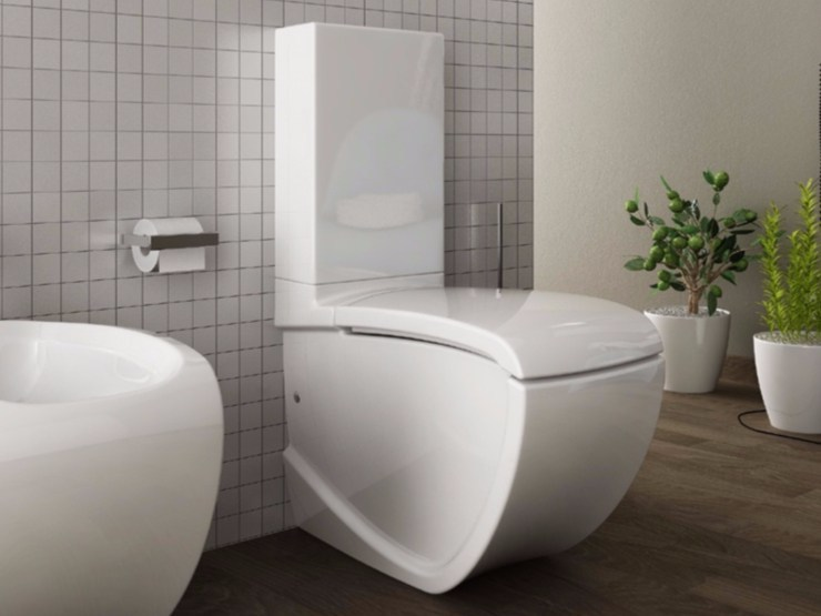 Ceramic toilet HI-LINE | Close coupled toilet - Hidra Ceramica