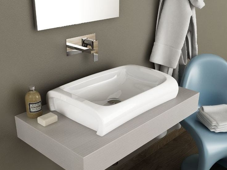 Ceramic washbasin HI-LINE | Rectangular washbasin - Hidra Ceramica