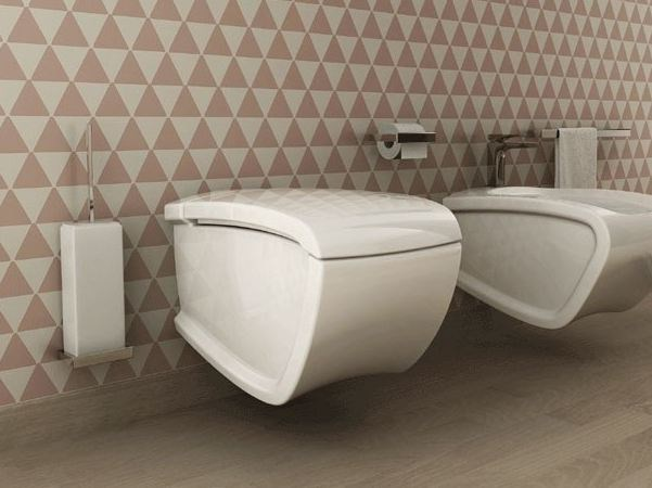Ceramic toilet HI-LINE | Wall-hung toilet - Hidra Ceramica