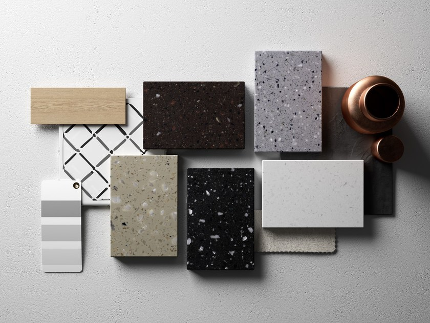 Composite material 3D Wall Surface HI-MACS® - Lucia - HI-MACS® by LG Hausys Europe