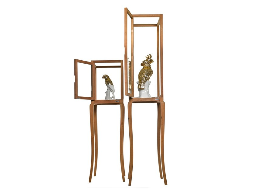 Wood and glass display cabinet HIGH CUBE - Pols Potten
