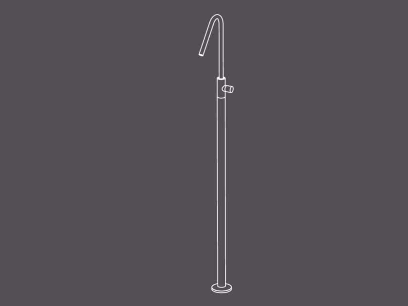 Miscelatore per lavabo da terra monocomando senza scarico HIR14 | Miscelatore per lavabo da terra - Radomonte