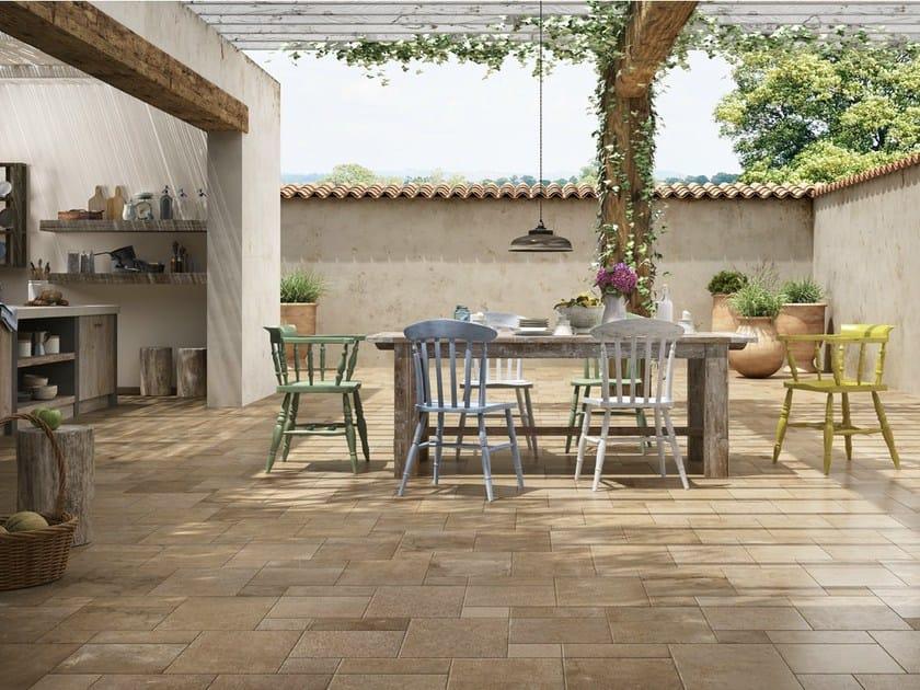 Pavimento per esterni in gres porcellanato effetto pietra historic ceramica d 39 imola - Foto carrelage terras exterieur ...
