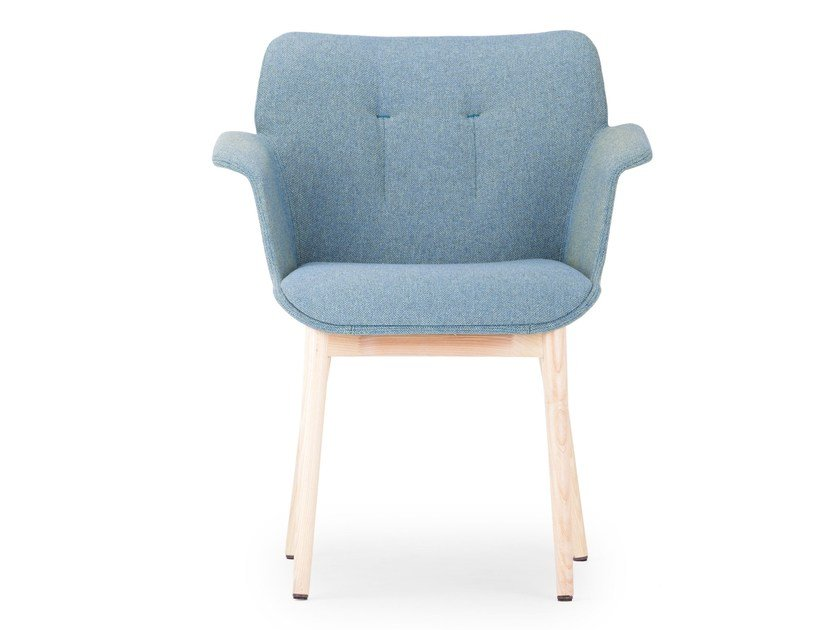 Upholstered easy chair with armrests HIVE | Easy chair - True Design