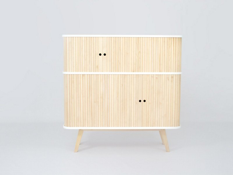 Highboard with sliding doors HK 0.75² - MO-OW design