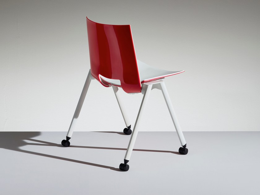 Folding chair with casters HL³ | Chair with casters - LAMM