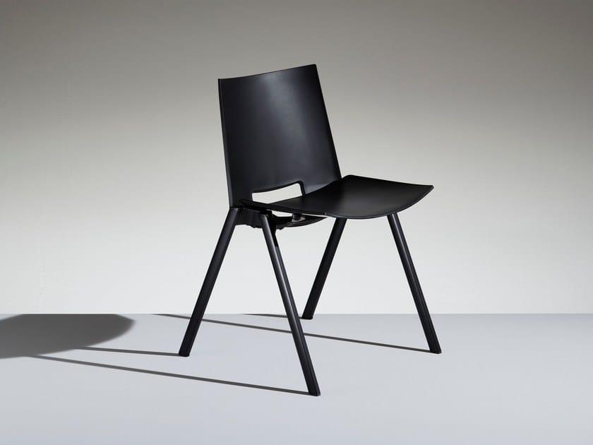Stackable polypropylene chair HL³ | Polypropylene waiting room chair - LAMM