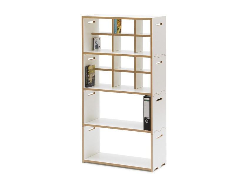 freestanding modular mdf shelving unit hochstapler by tojo. Black Bedroom Furniture Sets. Home Design Ideas