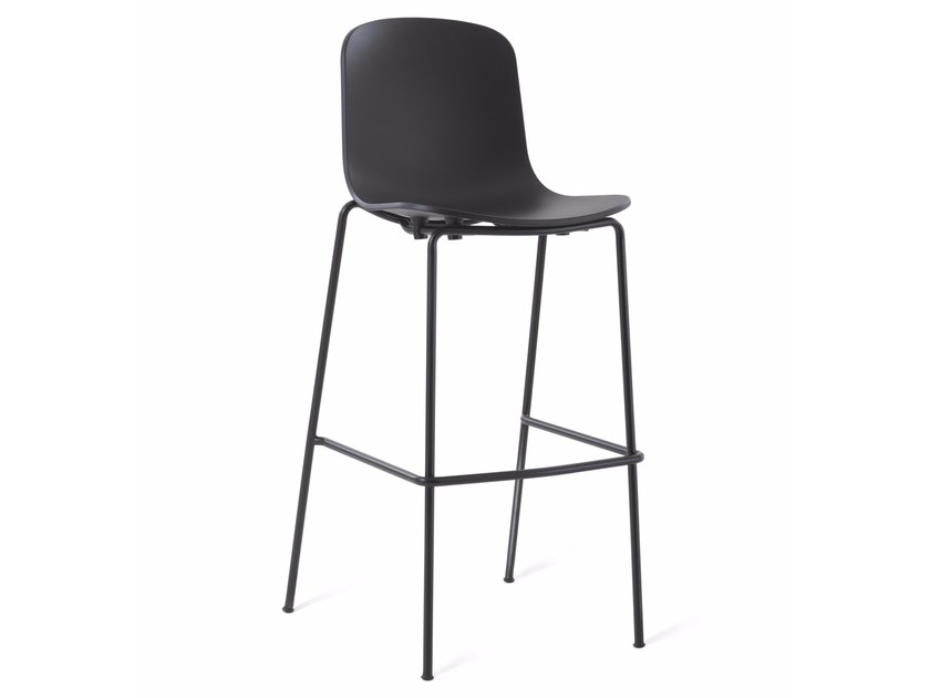 Plastic counter stool with footrest HOLI | Plastic chair - KUBIKOFF
