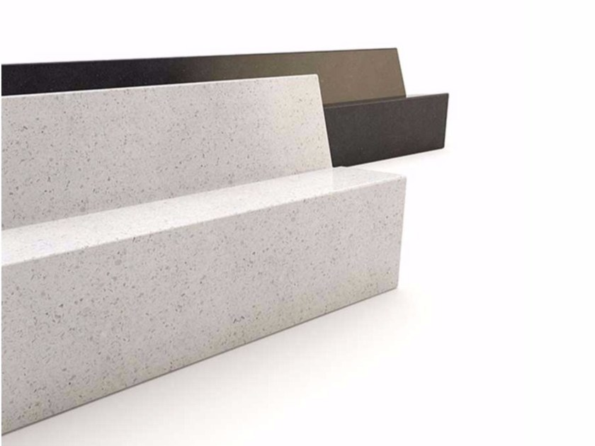 Contemporary style granite Bench with back HOLLY - Bellitalia