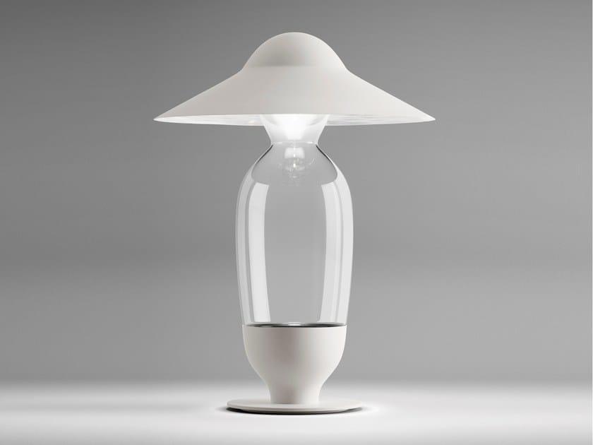 Blown glass table lamp HOLLYG - FontanaArte